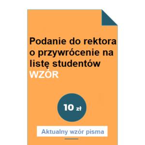 podanie-do-rektora-o-przywrocenie-na-liste-studentow-wzor-pdf-doc