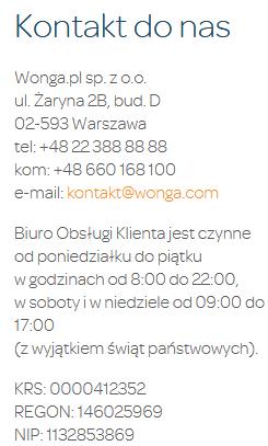 wonga-kontakt