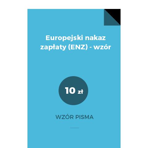 Europejski nakaz zapłaty (ENZ) - wzór