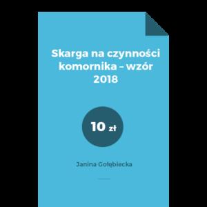 Skarga na czynności komornika – wzór 2018