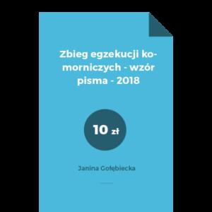 Zbieg egzekucji komorniczych - wzór pisma - 2018