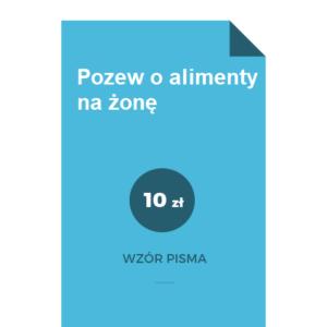 alimenty-na-zone-wzor-pozwu
