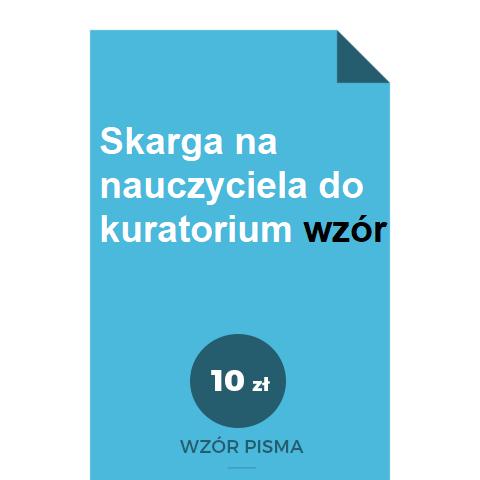 skarga-na-nauczyciela-do-kuratorium-wzor-pdf-doc